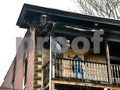 1/16/2018 Mike Orazzi | Staff Two pets perished Tuesday during an early-morning apartment fire that has displaced more than half a dozen people. Firefighters responded to 14 Dwight St., a three-story, six-unit apartment building at about 6:21 a.m. to find a unit on the third floor was ablaze.