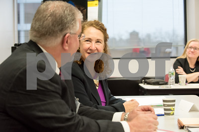 01/16/18  Wesley Bunnell | Staff  Congresswoman Elizabeth Esty (CT-5) met with her science, technology, engineering and math (STEM) Advisory Board on Tuesday morning at CCSU's ITBD building. Congresswoman Elizabeth looks over at Executive Director of Eastconn Gara Mala during one of her presentations.