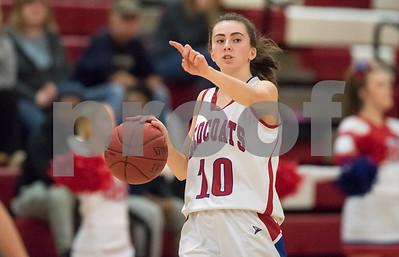 01/22/18  Wesley Bunnell | Staff  Southington vs Berlin girls basketball at Berlin High School on Monday evening. Ashley Wenzel (10).