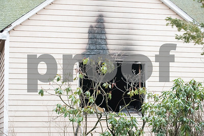 01/22/18  Wesley Bunnell | Staff  Fire damage at 104 Diamond Ave in Plainville which was the scene of a fire the previous day.