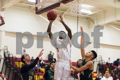 01/23/18  Wesley Bunnell | Staff  New Britain boys basketball vs Enfield on Tuesday evening at New Britain High School. Malik Shode (34).