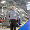 01/19/18  Wesley Bunnell | Staff<br /> <br /> President of Okay Industries, Jason Howey, stands on the production floor of the Berlin location.