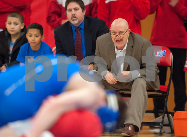 01/24/18 Wesley Bunnell   Staff Berlin wrestling defeated Plainville 54-21 at Berlin High School on Wednesday night.