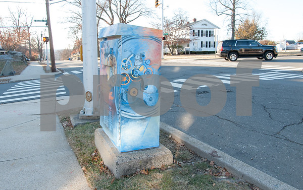 01/26/18 Wesley Bunnell | Staff A utility box painted near Federal Hill Park painted in one of various themes around the city.