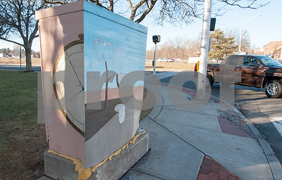 01/26/18  Wesley Bunnell | Staff  A painted utility box on Main St in Bristol.