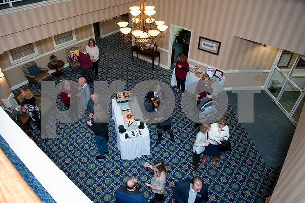 01/25/18 Wesley Bunnell | Staff Mulberry Gardens held a reception on Jan 25 to featuring its newly renovated reception area as well as a fireplace and seating for residents to enjoy.