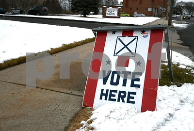 1/30/2018 Mike Orazzi | Staff Plainville residents voted on upgrades to the town's water pollution control facility Tuesday afternoon.