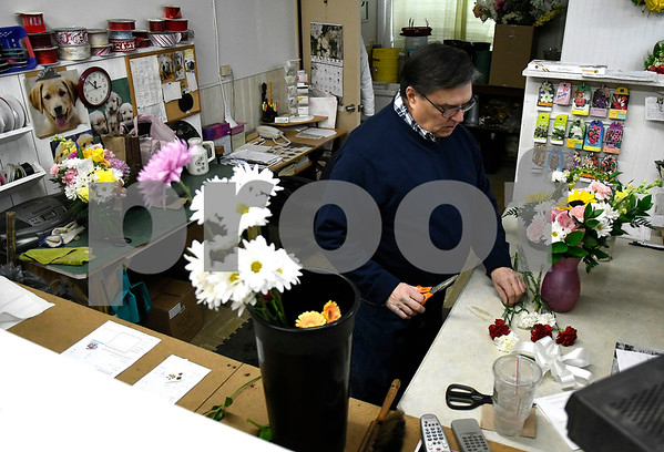 1/10/2018 Mike Orazzi | Staff Florist Piskorski , at Jayne Eugene in Terryville.