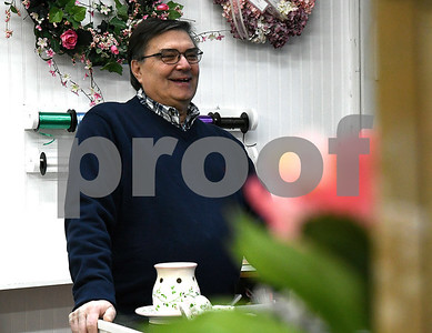 1/10/2018 Mike Orazzi | Staff Florist Piskorski , at Jayne Eugene in Terryville.