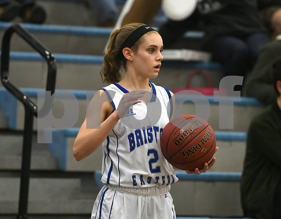 1/11/2018 Mike Orazzi | Staff Bristol Eastern's Paige McLaughlin (2) during Thursday night's girls basketball game at BE.