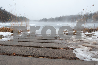 01/12/18  Wesley Bunnell   Staff  Rain melting ice and fog made for interesting ice designs on Paper Goods Pond in Berlin on Friday afternoon.