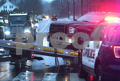 1/12/2018 Mike Orazzi   Staff A two vehicle crash at the intersection of Stafford Ave. Maltby Street Friday afternoon in Bristol.