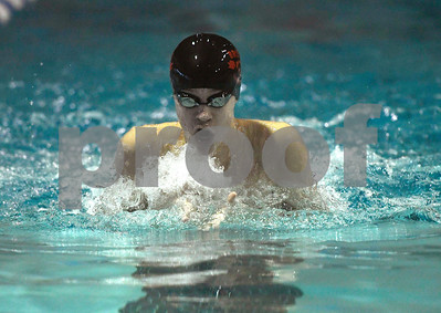 1/12/2018 Mike Orazzi   Staff Bristol swimming's Colton Litwinczyk during Friday's swim meet with Southington.