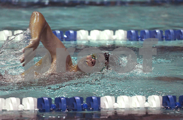 1/12/2018 Mike Orazzi | Staff Southington swimming's Quintin Kimmel during Friday's swim meet with Bristol.