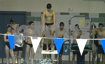1/12/2018 Mike Orazzi   Staff Bristol swimming's Ben Stafford during Friday's swim meet with Southington.