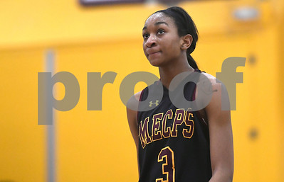 1/13/2018 Mike Orazzi | Staff Medgar Evers College Preparatory School's Shequana Jackson (3) in New Britain Saturday afternoon.