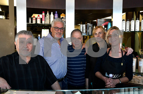 1/13/2018 Mike Orazzi   Staff Staff from the Mr. Joseph Hair Salon & Spa in New Britain on Saturday. For a Charlie chamber story.