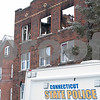 01/17/18  Wesley Bunnell   Staff<br /> <br /> The New Britain Fire Department battled a structure fire at 42 Connerton St. starting late on Tuesday night and continued into Wednesday morning. The building sustained severe damage with with interior structural collapse and a total roof collapse. One firefighter  was injured and transported to the hospital for observation and released. Parts of the collapsed roof can be seen through the top windows.