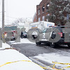 01/17/18  Wesley Bunnell   Staff<br /> <br /> The New Britain Fire Department battled a structure fire at 42 Connerton St. starting late on Tuesday night and continued into Wednesday morning. The building sustained severe damage with with interior structural collapse and a total roof collapse. One firefighter  was injured and transported to the hospital for observation and released.