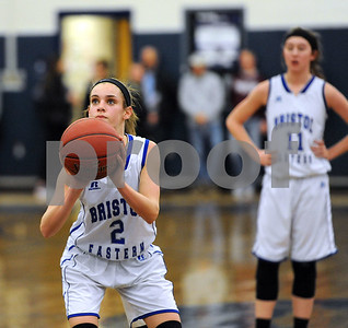 1/18/2018 Mike Orazzi | Staff Bristol Eastern's Paige McLaughlin (2) during the girls basketball game at BEHS Thursday night.