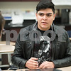 01/18/18  Wesley Bunnell | Staff<br /> <br /> 10th grade student at New Britain High School Angel Diaz in class on Thursday afternoon.  Angel is part of a group of students who have relocated to New Britain from Puerto Rico following the devastating Hurricane Maria.