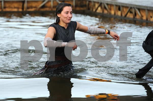 1/20/2018 Mike Orazzi | Staff Amanda Antonioli during the 13th Annual Sloper Plunge at Camp Sloper in Southington Saturday.