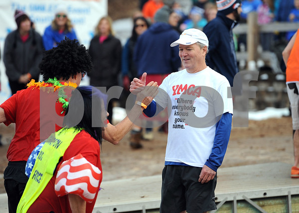 1/20/2018 Mike Orazzi | Staff John Myers during the 13th Annual Sloper Plunge at Camp Sloper in Southington Saturday.