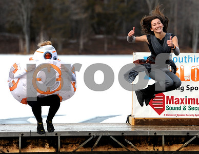 1/20/2018 Mike Orazzi | Staff Ciara Devaney and Amanda Antonioli  during the 13th Annual Sloper Plunge at Camp Sloper in Southington Saturday.