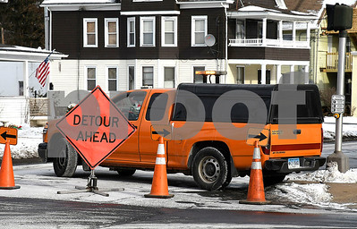 1/2/2017 Mike Orazzi | Staff A watermain break on Park Street in Bristol Tuesday.
