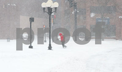 01/04/18  Wesley Bunnell | Staff  A blizzard featuring high winds and causing icy conditions hit CT throughout the day on Thursday. A pedestrian walks through a heavy snowfall in Central Park.