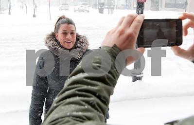 01/04/18  Wesley Bunnell | Staff  A blizzard featuring high winds and causing icy conditions hit CT throughout the day on Thursday. Mayor Erin Stewart during a Facebook live update in front of city hall giving updates of conditions around the city.