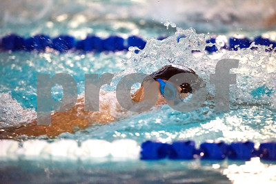 01/19/18  Wesley Bunnell | Staff  Plainville swimming was defeated by Southington 97-80  on Friday evening at Plainville High School. Plainville's Marcos Gutierrez in the 400 free.