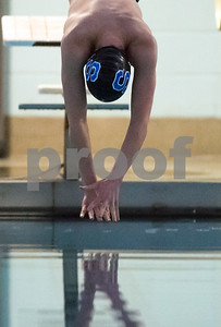 01/19/18  Wesley Bunnell | Staff  Plainville swimming was defeated by Southington 97-80  on Friday evening at Plainville High School. Southington's Derek Melanson during the 100 fly.