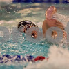 01/19/18  Wesley Bunnell | Staff<br /> <br /> Plainville swimming was defeated by Southington 97-80  on Friday evening at Plainville High School.  Plainville's Joe Michalic in the 400 free.