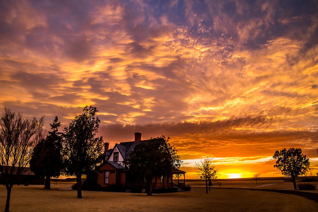 Sunset at Goodnight Historical Center