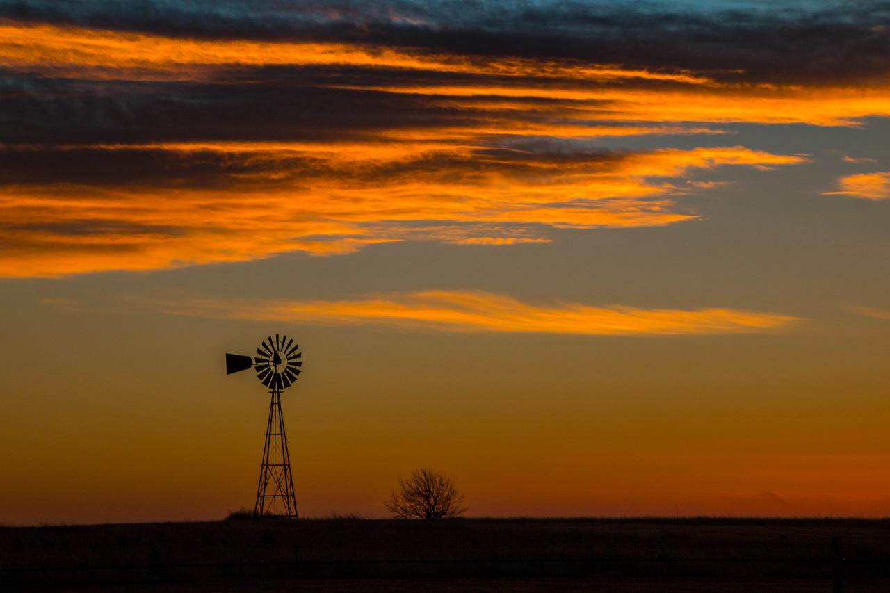 Dry Texas Sunset