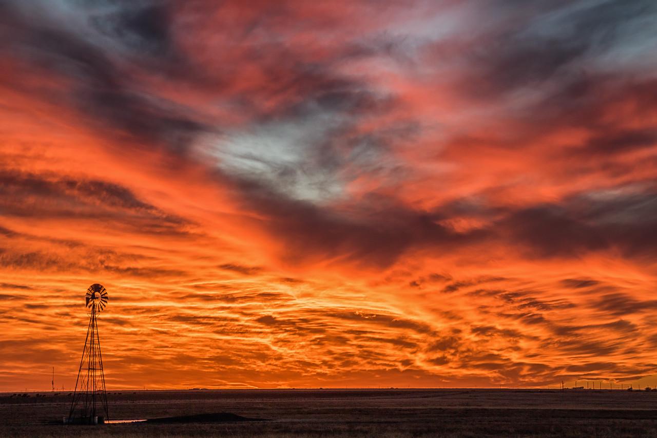 Molten Sunset Near Happy