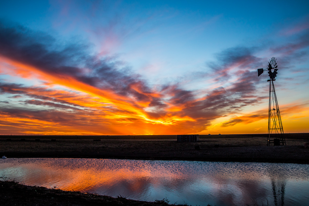 Happy Texas Sunset