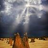 """Receding Storm, Pinnacles Desert, Western Australia."""