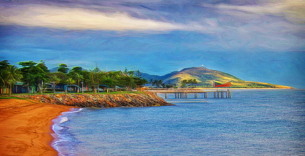 """Townsville Strand and Cape Pallarenda by Early Morning Light."""