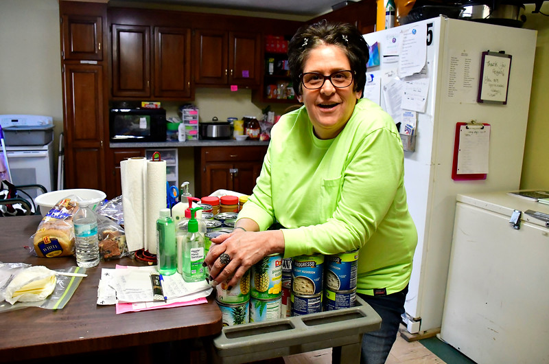 1/30/2019 Mike Orazzi | Staff Brian's Angels volunteer Kim Margelot in the kitchen area on Wednesday afternoon.