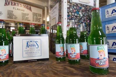 01/15/19  Wesley Bunnell | Staff  A limited edition run of Shutdown Swill Soda by Avery's Soda featuring a caricature of President Trump.  The bottles come with either red or blue caps to represent the Democratic and Republican parties.