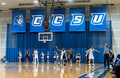 01/21/19  Wesley Bunnell | Staff  CCSU's mens basketball was defeated 70-59 by Robert Morris at home on Monday afternoon. Action shown late in the 1st half.