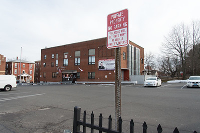 01/28/19  Wesley Bunnell | Staff  Private parking signs located at the entrance to General J. Haller Poste No.111 on Broad St.