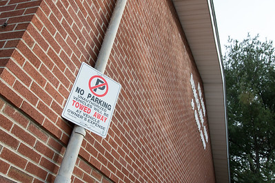 01/28/19  Wesley Bunnell | Staff  A no parking sign at the Pulaski Democratic Club located at 89 Grove St.