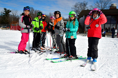 1/12/2019 Mike Orazzi | Staff Skiers in the Intro to Racing Class at Mount Southington Ski Area on Mt Vernon Road in Plantsville Saturday.