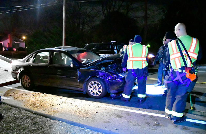 1/16/2019 Mike Orazzi   Staff The scene of a three-car crash on Mix Street near the intersection with Jerome Avenue. No injuries were reported and the road was closed about an hour.