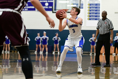 1/18/2019 Mike Orazzi | Staff Bristol Eastern's Bryce Curtin (3) during Friday night's boys basketball game with Bristol Central at Eastern.