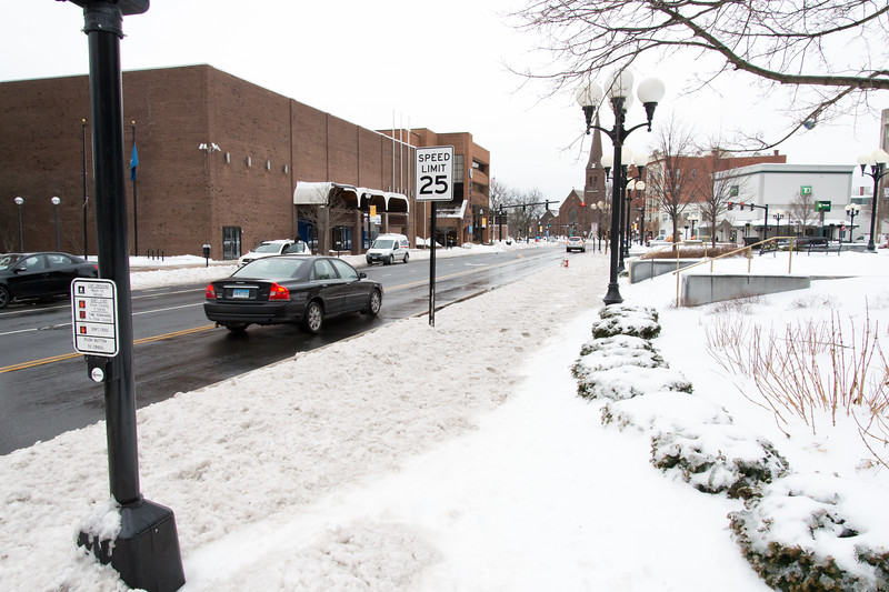 01/23/19  Wesley Bunnell | Staff  Several streets and sidewalks still remain covered in snow and ice on Wednesday after a weekend storm. A portion of sidewalk buried under snow on Main St and Central Park.