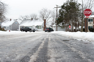 01/23/19  Wesley Bunnell | Staff  Several streets and sidewalks still remain covered in snow and ice on Wednesday after a weekend storm.  A look down Highview Ave towards the intersection with Pierremount Ave.